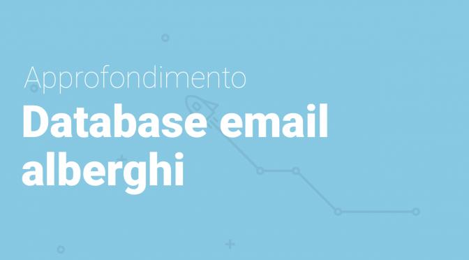 Database indirizzi email alberghi
