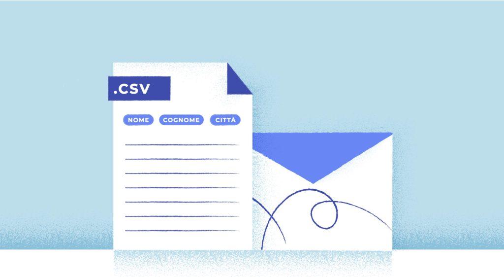 Come creare file contatti csv